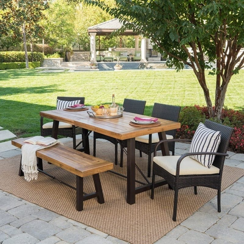 6-piece-teak-wicker-outdoor-dining-set-800x800 Wicker Patio Dining Sets