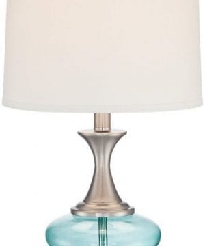 6-reiner-blue-glass-and-steel-table-lamp-300x360 200+ Coastal Themed Lamps