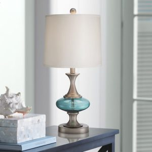 6b-reiner-blue-glass-and-steel-table-lamp-300x300 Best Coastal Themed Lamps