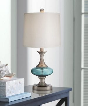 6b-reiner-blue-glass-and-steel-table-lamp-300x360 200+ Coastal Themed Lamps