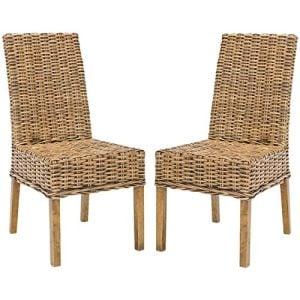 7-Safavieh-Sanibel-Wicker-Chairs-300x300 Wicker Dining Chairs & Rattan Dining Chairs