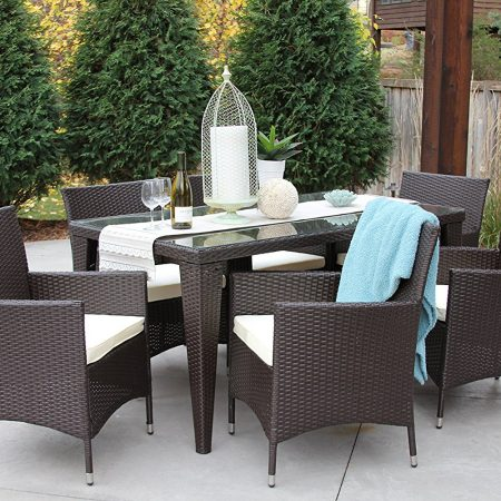 7-all-weather-outdoor-wicker-dining-set-450x450 Wicker Patio Dining Sets