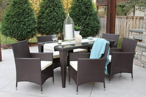 All Weather Outdoor Wicker Dining Set