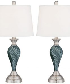 7-arden-dark-blue-green-twist-column-table-lamp-247x296 100+ Coastal Themed Lamps