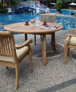7-grade-a-5pc-round-teak-dining-set-300x360 Best Teak Patio Furniture Sets
