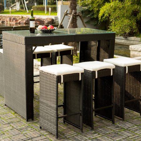 7-merax-high-top-barstool-wicker-dining-set-450x450 Wicker Patio Dining Sets