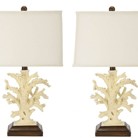 7-safavieh-key-west-coral-beach-lamps-450x450 100+ Coastal Themed Lamps