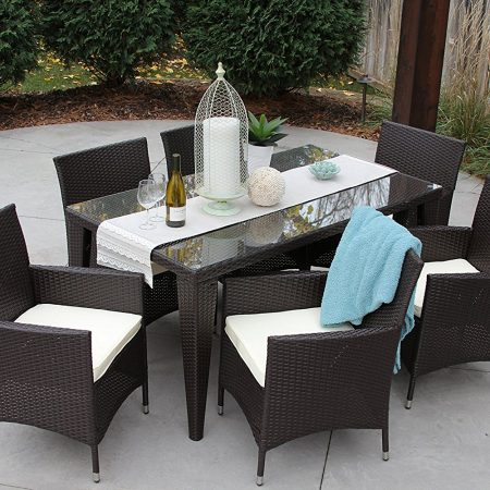 7b-all-weather-outdoor-wicker-dining-set-450x450 Wicker Patio Dining Sets