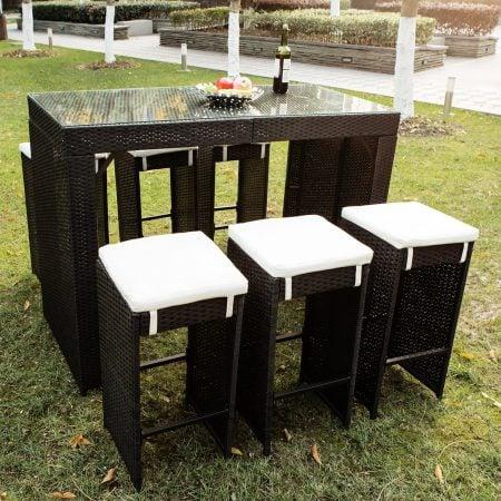 7b-merax-high-top-barstool-wicker-dining-set-450x450 Wicker Patio Dining Sets