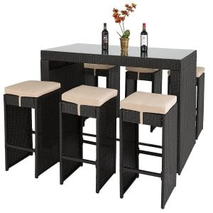 8-best-choice-products-wicker-barstool-dining-set-300x300 Wicker Dining Tables & Wicker Patio Dining Sets