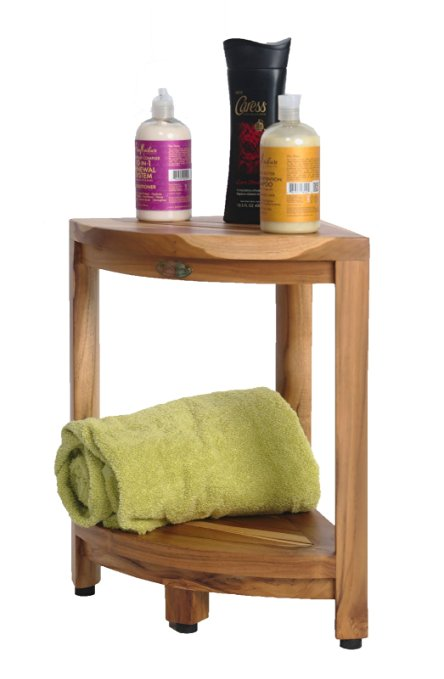 8-ecodecors-earthyteak-corner-shower-bench Outdoor Teak Benches