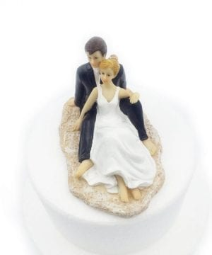 8-groom-bride-on-beach-wedding-cake-topper-300x360 50+ Beach Wedding Cake Toppers and Nautical Cake Toppers For 2020