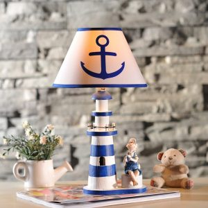 8-nautical-anchor-lighthouse-table-lamp-300x300 Best Coastal Themed Lamps