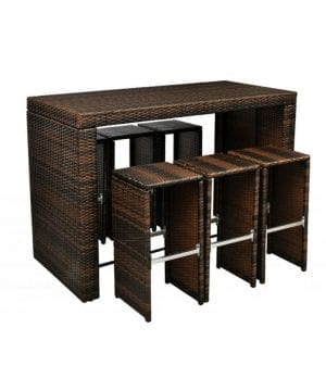 8-poly-rattan-garden-hightop-barstool-wicker-dining-set-300x360 Wicker Patio Dining Sets