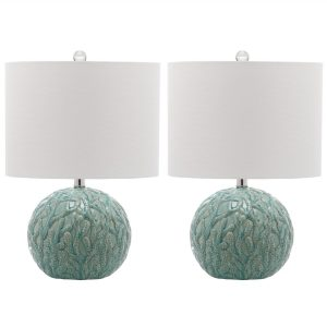 Safavieh Robinson Set of 2 Coral Table Lamps