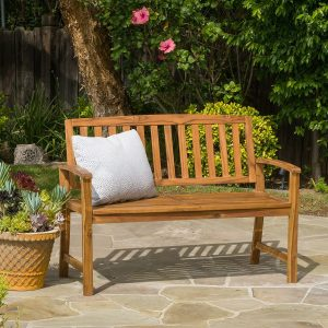 8-tamika-teak-finish-brown-wood-bench-300x300 100+ Outdoor Teak Benches