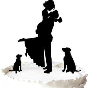 9-Dog-Lovers-Wedding-Cake-Topper-300x300 Beach Wedding Cake Toppers & Nautical Cake Toppers