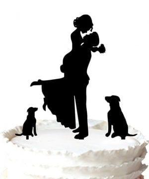 9-Dog-Lovers-Wedding-Cake-Topper-300x360 50+ Beach Wedding Cake Toppers and Nautical Cake Toppers For 2020