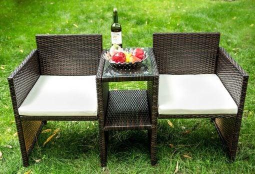 Merax Outdoor Patio Wicker Chair Set