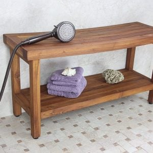 "Original Sumba 36"" Teak Shower Bench"