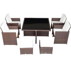 9-outsunny-9pc-outdoor-rattan-wicker-dining-set-300x300 Wicker Dining Tables & Wicker Patio Dining Sets
