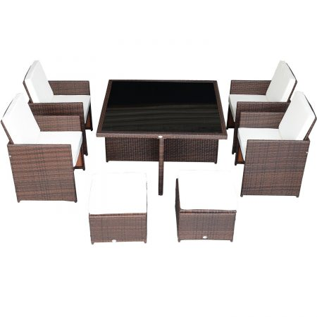 9-outsunny-9pc-outdoor-rattan-wicker-dining-set-450x450 Wicker Patio Dining Sets