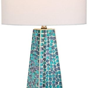 Possini Lorin Blue Mosaic Coastal Lamp