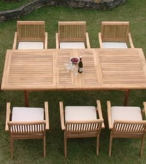 9-rectangle-9pc-grade-a-teak-dining-set-300x338 Best Teak Patio Furniture Sets