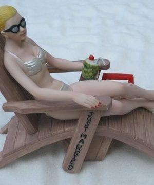 Beach Lounge Chairs Wedding Cake Topper