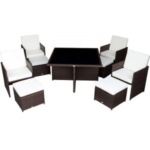 9b-outsunny-9pc-outdoor-rattan-wicker-dining-set-300x300 Wicker Dining Tables & Wicker Patio Dining Sets