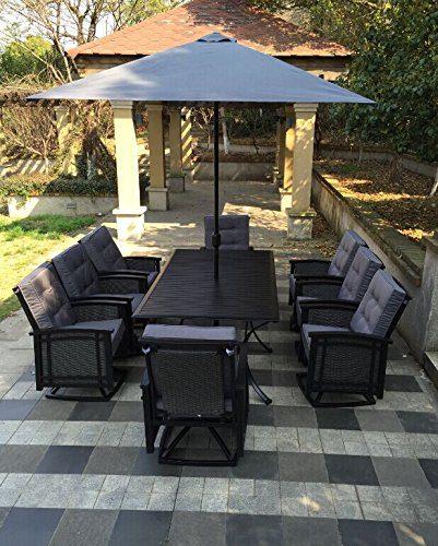 9b-palmetto-black-aluminum-wicker-dining-set Wicker Patio Dining Sets