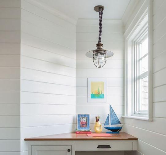 Beach-Style-Kids-Desk 101 Indoor Nautical Style Lighting Ideas
