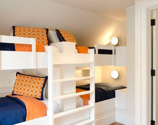 Bunk-Room-by-Wayne-Windham-Architect-PA 101 Indoor Nautical Style Lighting Ideas