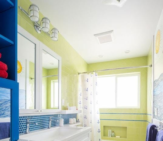 Magnolia-Family-Bathrooms-Reimagined-by-Model-Remodel 101 Indoor Nautical Style Lighting Ideas