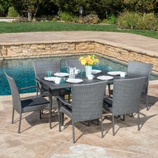 Marissa-Outdoor-7-Piece-Wicker-Dining-Set Wicker Patio Dining Sets