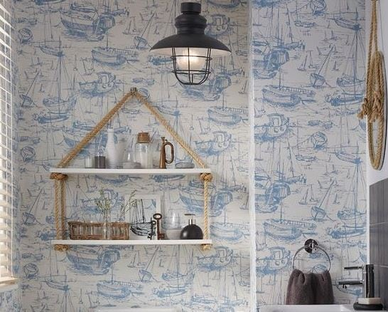 Nautical-Cloakroom-by-BQ 101 Indoor Nautical Style Lighting Ideas