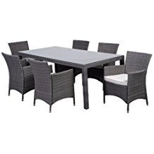 atlantic-7-piece-gray-wicker-dining-set Wicker Patio Dining Sets