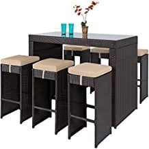 barstool-patio-dining-wicker-set Wicker Patio Dining Sets