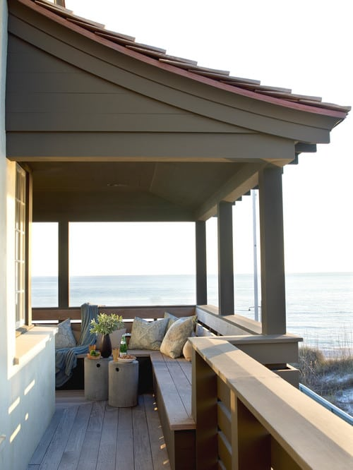 beach-style-balcony 100+ Outdoor Teak Benches