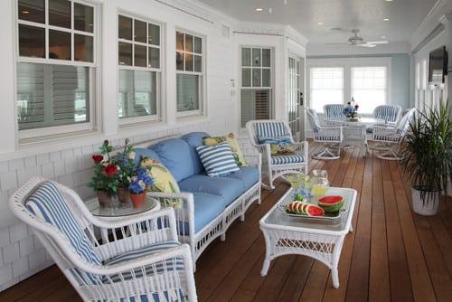 beach-style-porch-outdoor-wicker-furniture Best Outdoor Wicker Patio Furniture