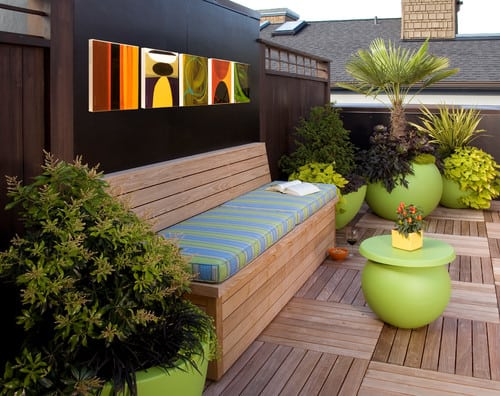 contemporary-patio-6 Outdoor Teak Benches