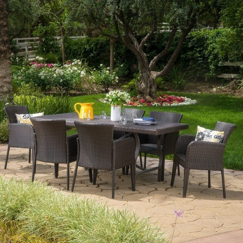 cozumel-outdoor-7-piece-wicker-dining-set-800x800 Wicker Patio Dining Sets