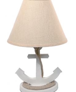 """DEI 19"""" White Anchor Nautical Lamp"""