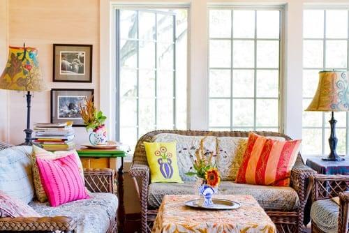 farmhouse-family-room-wicker-patio-furniture-sets Best Wicker Patio Furniture Sets