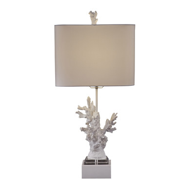 High Gloss Coral Table Lamp