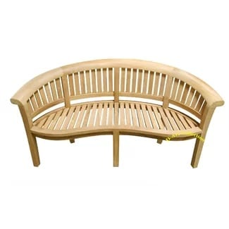 island-teak-wood-curved-bench Outdoor Teak Benches