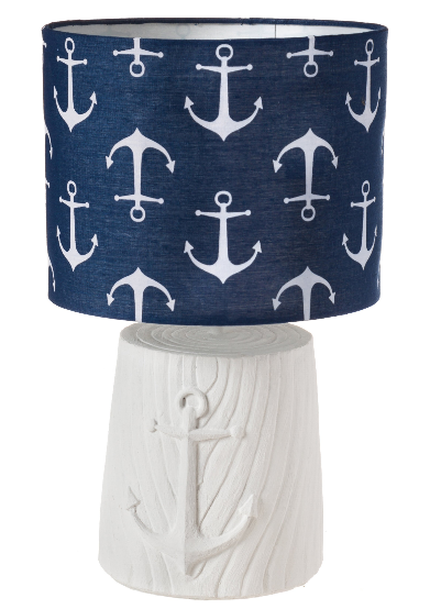 Killingworth Anchor Blue & White Lamp