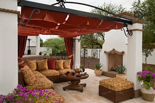 mediterranean-patio-outdoor-wicker-furniture Best Outdoor Wicker Patio Furniture