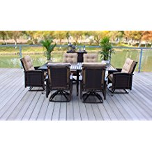 outdoor-premium-rattan-wicker-aluminum-dining-set Wicker Patio Dining Sets