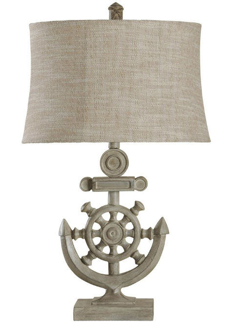 shipwheel-anchor-nautical-table-lamp Nautical Themed Lamps
